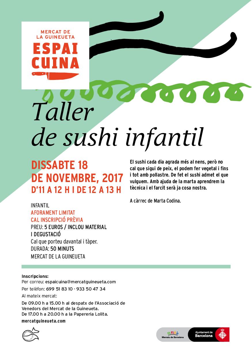 Taller de sushi infantil