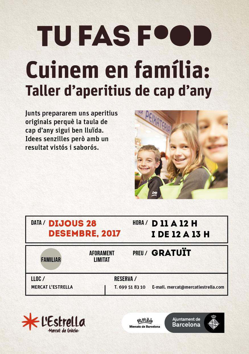 Cuinem en família: Taller d'aperitiusde cap d'any
